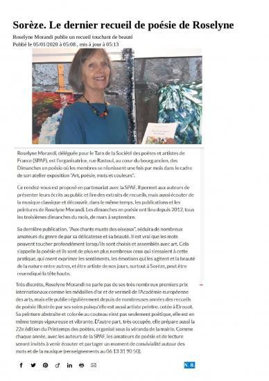 Article la depeche 5 janvier 2020 page 001