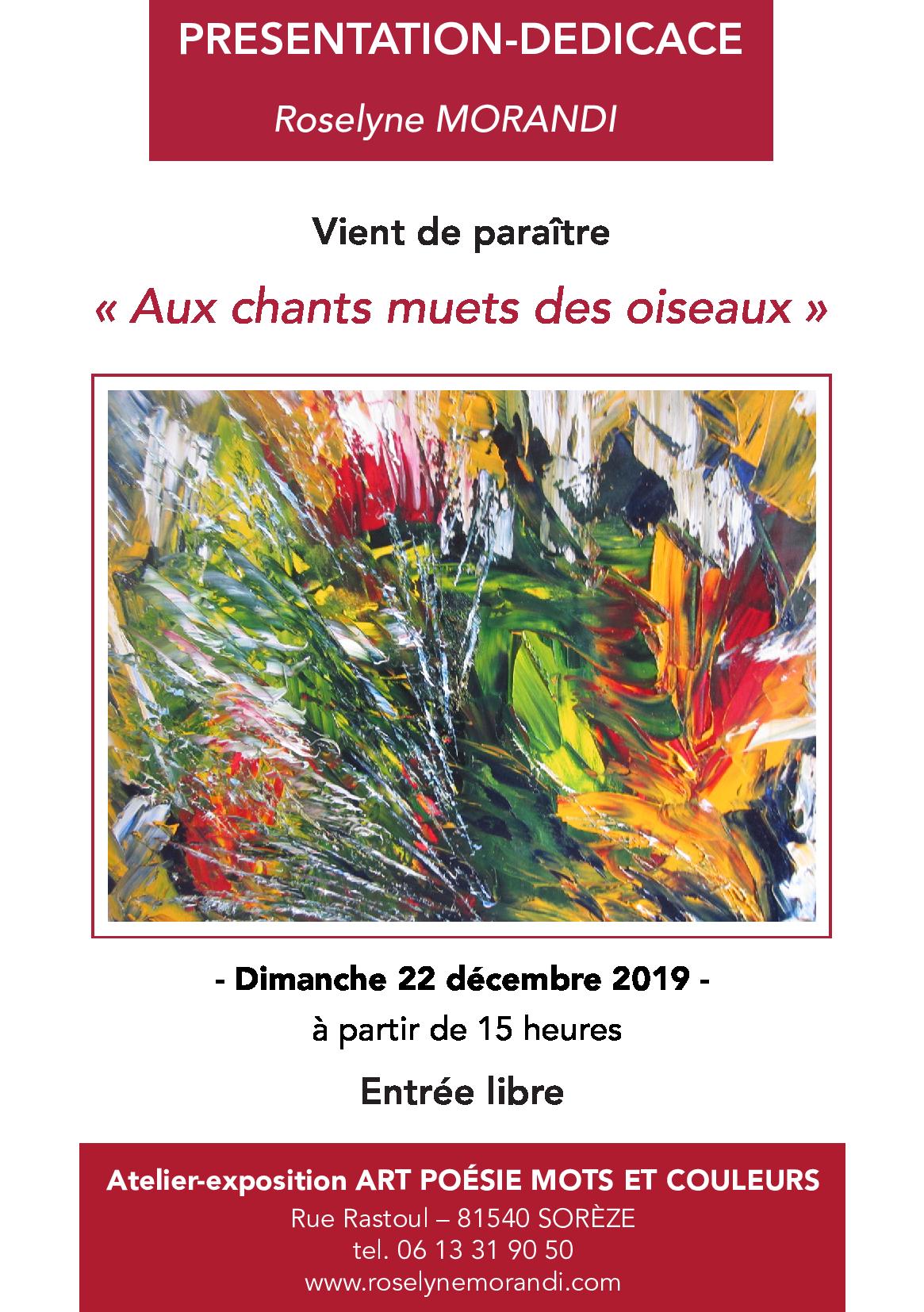 Invitation dedicace 22 decembre 2019